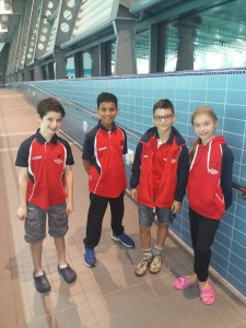 Academy swimmers from the City of Oxford Swimming Club