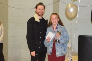 The winner of the Girls Age 14 trophy was Madeline Powell